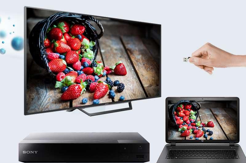 Tivi KDL-40W650D kết nối với các thiết bị ngoài