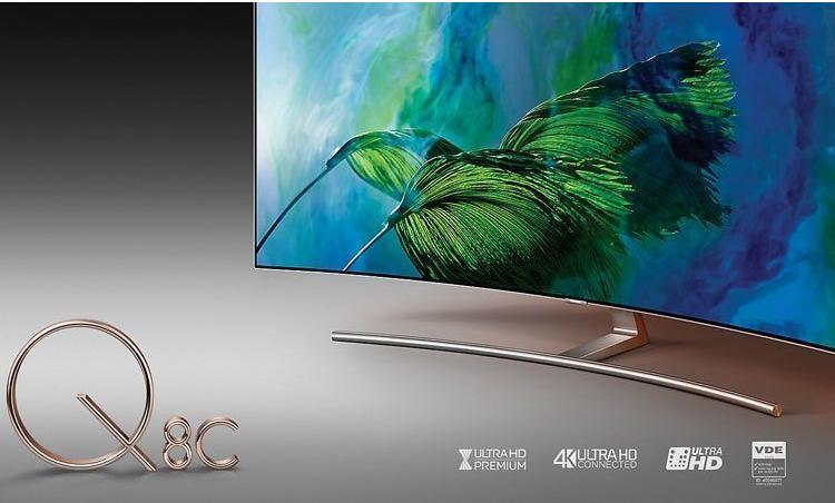 Smart Tivi QLED 4K Samsung QA55Q8CAM thiết kế đẹp mắt
