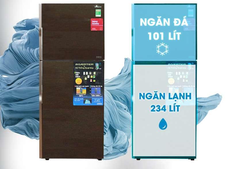 dung tích tủ lạnh R-VG400PGV3 (GBW)