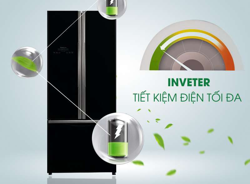 Tủ lạnh hitachi R-WB545PGV2 (GBK) sở hữu công nghệ inverter