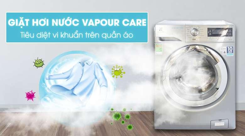 Máy giặt Electrolux EWF14023S với công nghệ giặt hơi nước