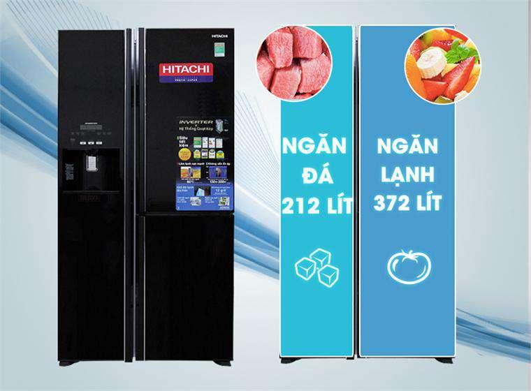 dung tích tủ lạnh R-M700GPGV2X (MBW)