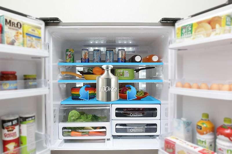Tủ lạnh Sharp 626 lít SJ-FX630V-ST khay kính chịu lực