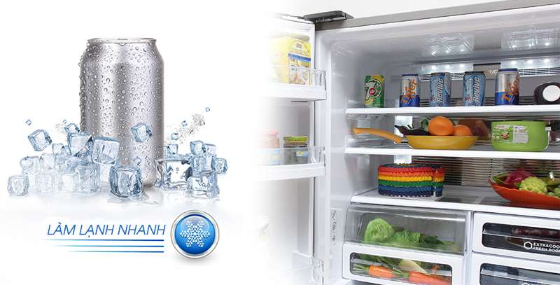 Tủ lạnh Sharp 626 lít SJ-FX630V-ST làm lạnh nhanh