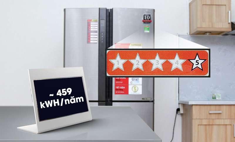 Tủ lạnh Sharp 626 lít SJ-FX630V-ST tiết kiệm năng lượng