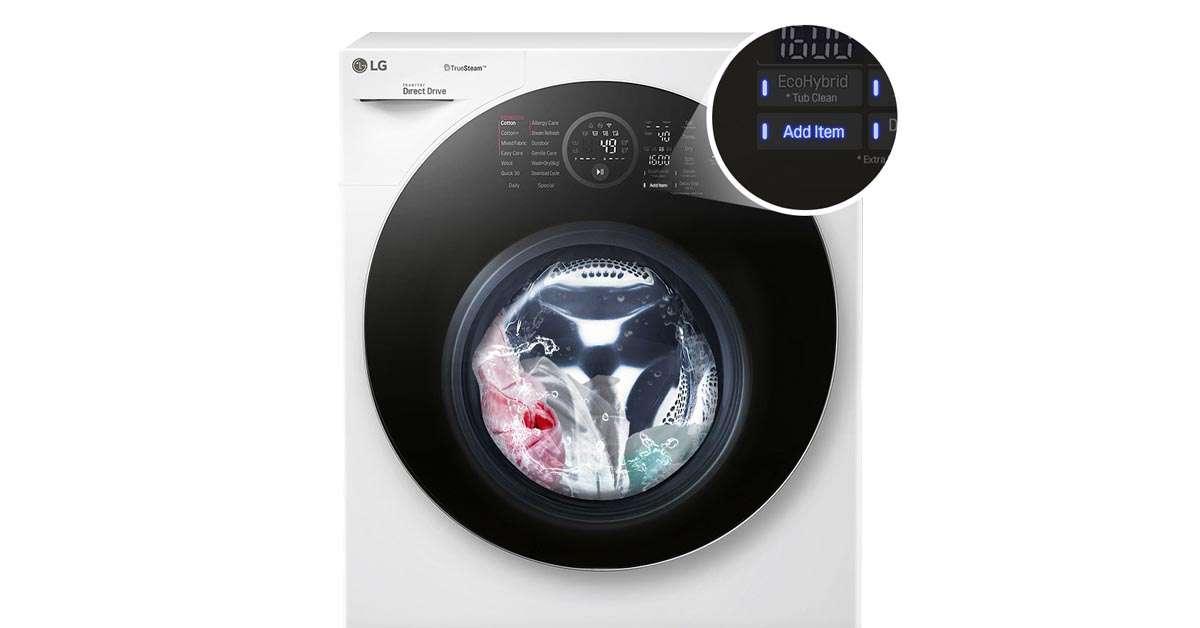 Máy Giặt LG TWINWash FG1405H3W thêm đồ lúc giặt