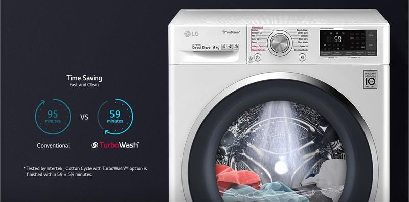 Máy giặt LG Inverter 9 kg FC1409S3W khối lượng giặt 9kg