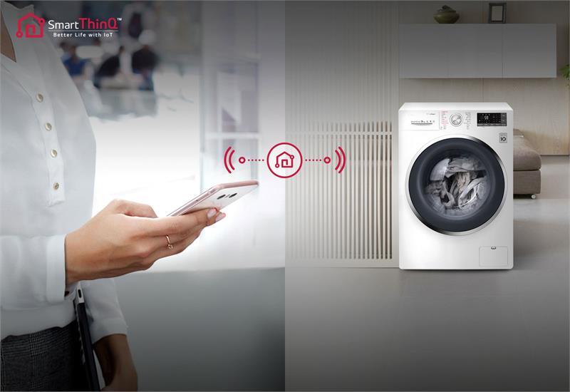 Máy giặt LG Inverter 9 kg FC1409S3W kết nối thông minh