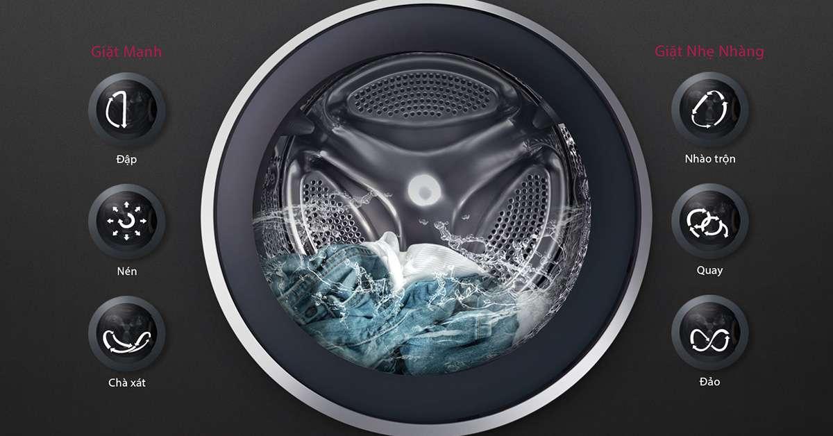 Máy giặt LG Inverter 19 kg F2719SVBVB 6 mosion DD