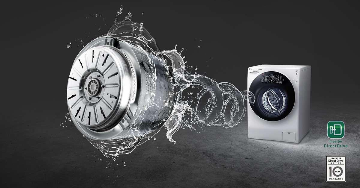 Máy giặt LG Inverter 19 kg F2719SVBVB Dẫn động inventer