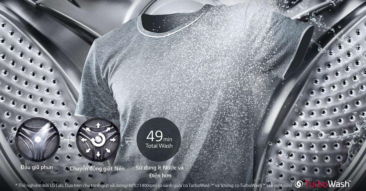 Máy giặt LG Inverter 19 kg F2719SVBVB Turbo Wash