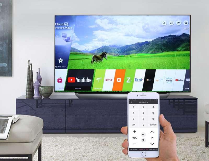 Smart Tivi OLED LG 4K 55 inch 55C8PTA  điều khiển tivi bằng điện thoại
