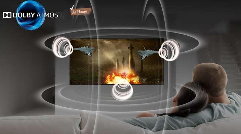 Smart Tivi OLED LG 4K 55 inch 55C8PTA  công nghệ âm thanh vòm Dolby Atmos