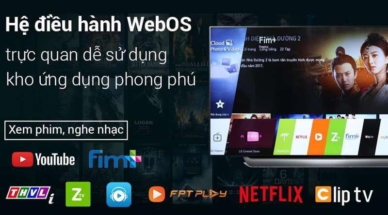 Smart Tivi OLED LG 4K 55 inch 55C8PTA  hệ điều hành Web OS