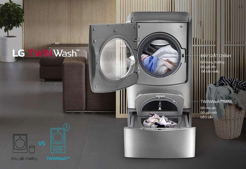 Máy giặt Mini 3.5 kg LG T2735NWLV Giặt đa chức năng