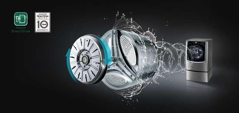 Máy giặt Mini 3.5 kg LG T2735NWLV Công nghệ inventer